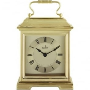 Gold Finish Quartz Battery Carriage Clock - Darcey 36748
