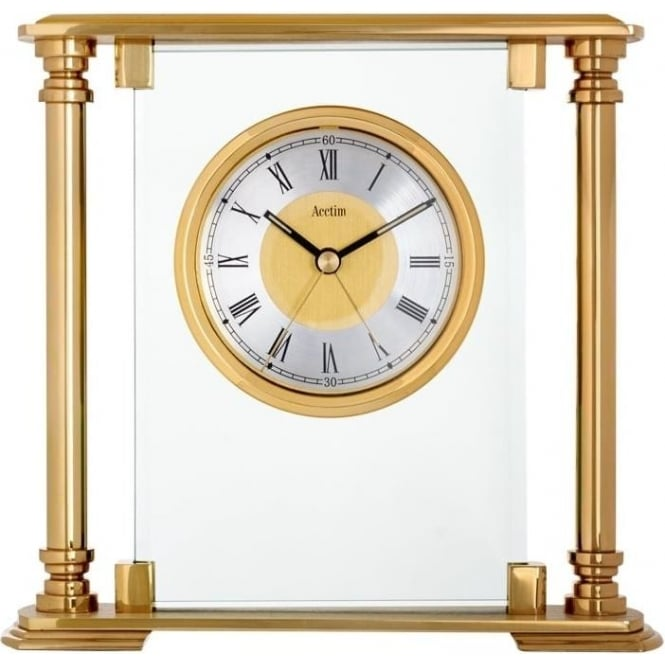 Acctim Gold Finish Quartz Battery Mantle clock Callisto 36128