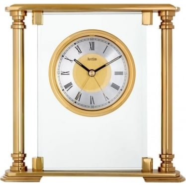 Gold Finish Quartz Battery Mantle clock Callisto 36128