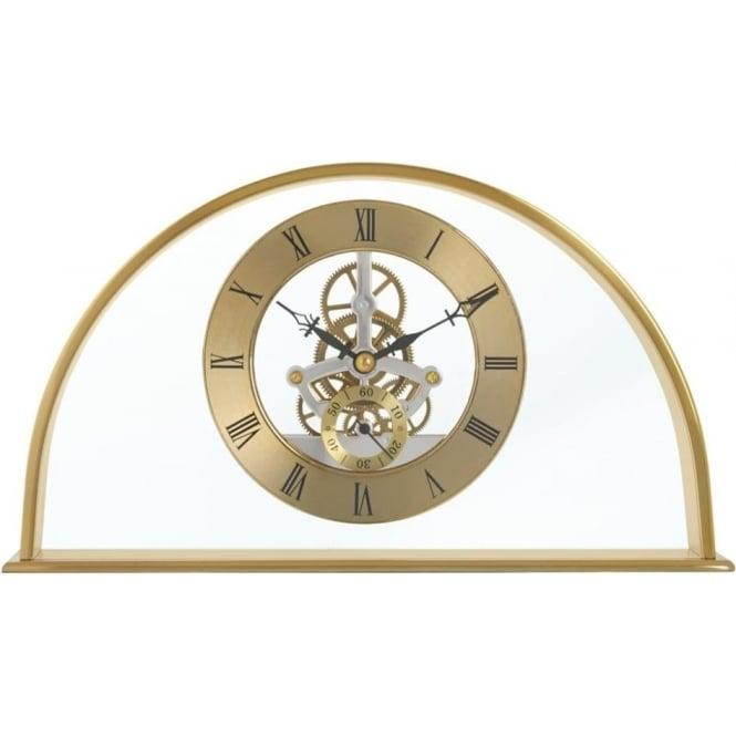 Acctim Gold Finish Skeleton Quartz Battery Mantle Clock Winslow 36488