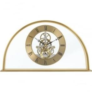Gold Finish Skeleton Quartz Battery Mantle Clock Winslow 36488