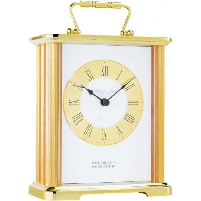 gold finish westminster chime carriage clock by london