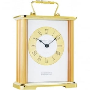 Gold Finish Westminster Chime Carriage Clock 18.5cm High 02062