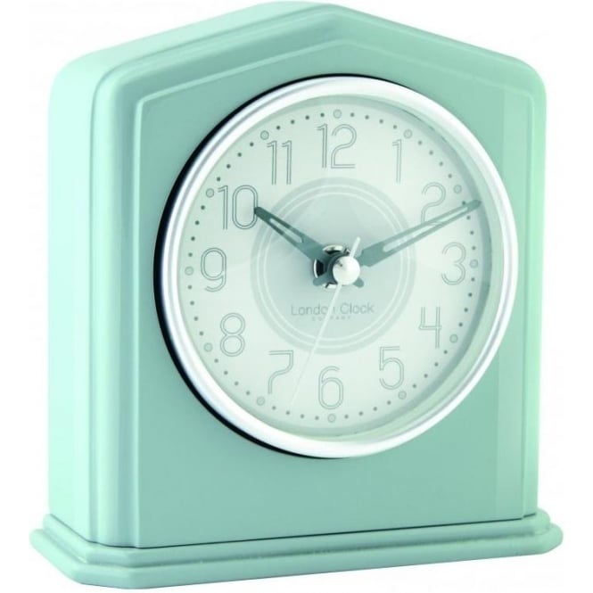 London Clock Company Grey Battery Mantle Clock, Silver Coloured Detail 06426