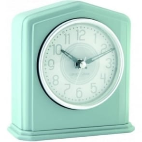Grey Battery Mantle Clock, Silver Coloured Detail 06426