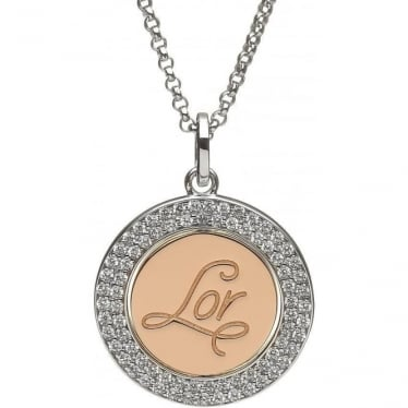 Silver & Irish Gold LOR Disc Pendant H-40024