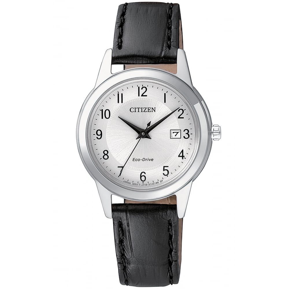 Ladies Citizen Eco-Drive Watch on Leather Strap FE1081-08A fcae77a3e