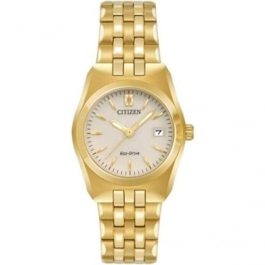 Ladies Gold Tone Citizen Eco-Drive on Bracelet EW2292-59P