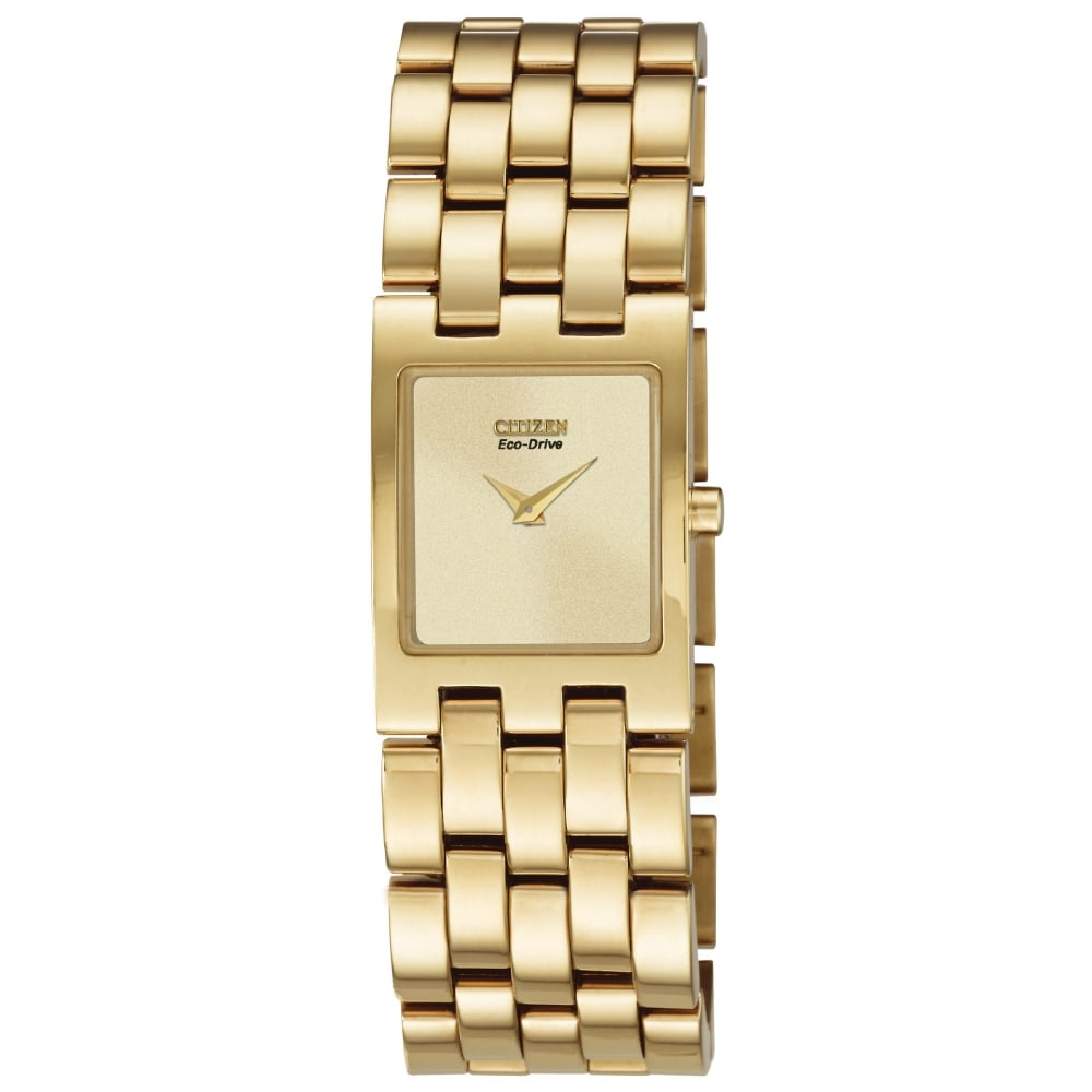Citizen Watch Ladies Gold Tone Citizen Eco-Drive Watch on ...