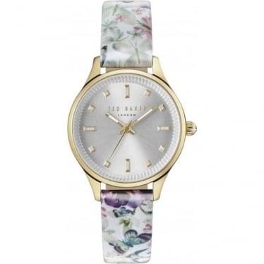 Ladies Gold Tone Ted Baker Quartz Watch on Strap TE10031554