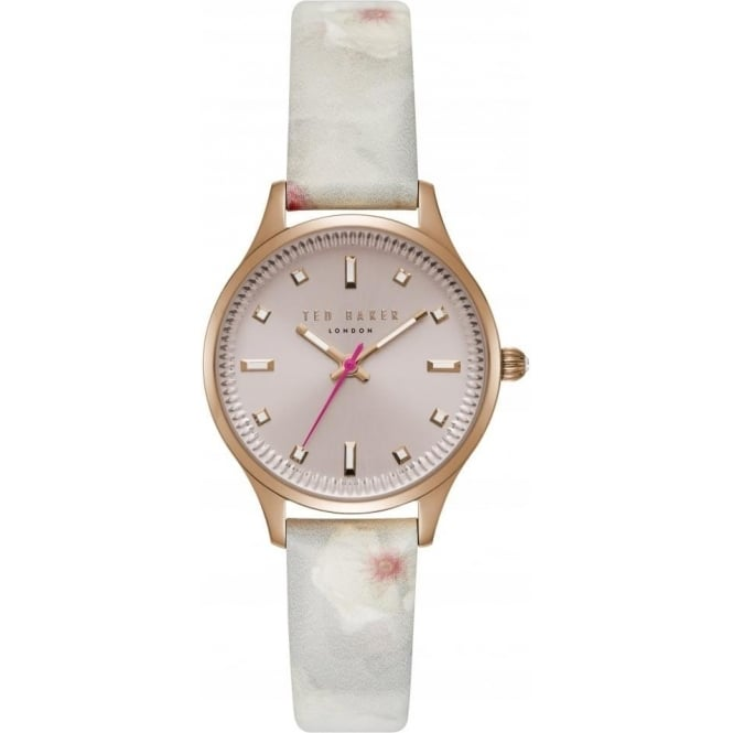 Ladies Rose Glod Tone Watch on Leather Strap TE50001002