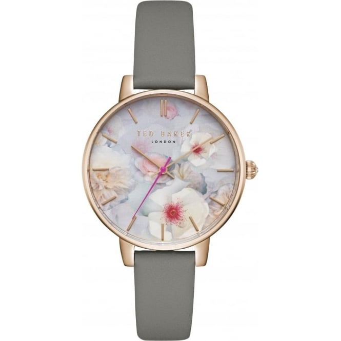 Ladies Rose Glod Tone Watch on Leather Strap TEC0025007