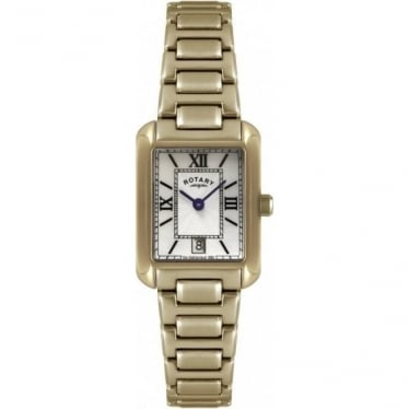 Ladies Rose Gold Finish Battery Watch on Bracelet LB02652/41