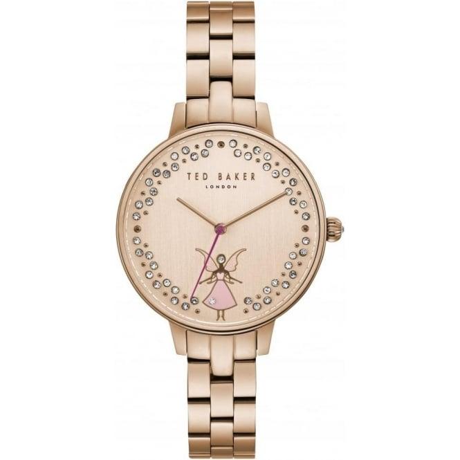 Ladies Rose Gold Tone Fairy Watch on Bracelet TE50005003