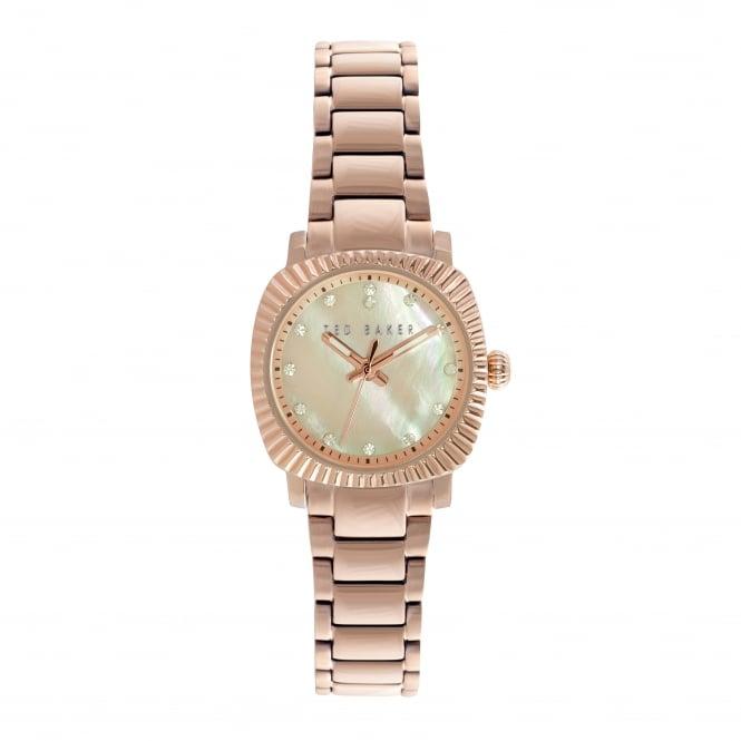 Ladies Rose Gold Tone Quartz Watch on Bracelet TE10024720