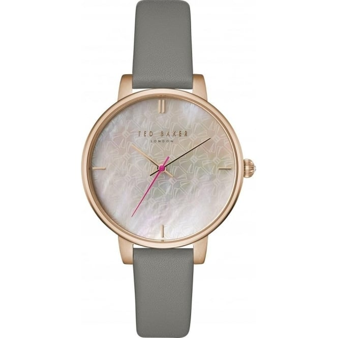Ladies Rose Gold Tone Watch on Leather Strap TEC0025002