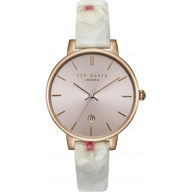Ladies Rose Gold Tone Watch on Leather Strap TEC0025004
