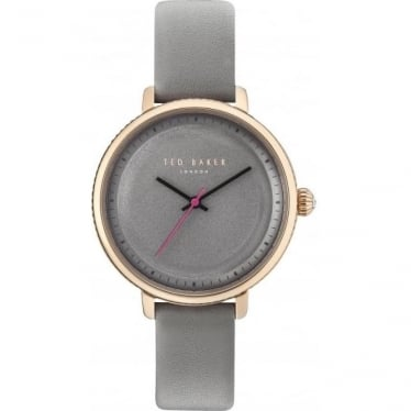 Ladies Rose Gold ToneTed Baker Watch on Leather Strap TE10031534