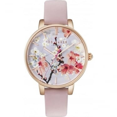 Ladies Rose Tone Ted Baker Quartz Watch on Strap TE10031544