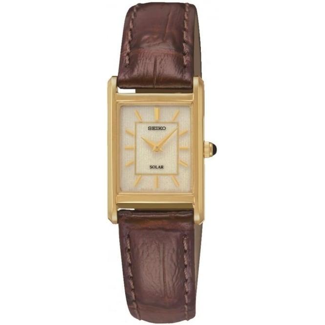 Ladies Seiko solar Watch on Leather Strap SUP252P1