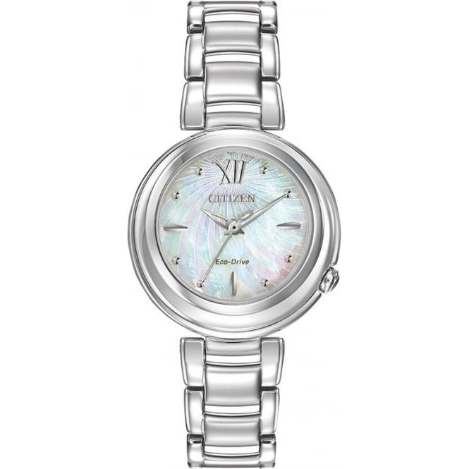 Citizen Watch Ladies Stainless Steel Eco-drive Watch on Bracelet EM0330-55D