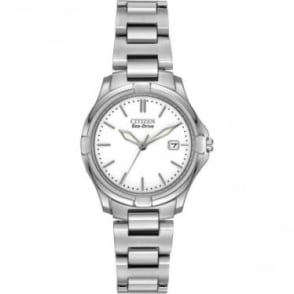 Ladies Stainless Steel Eco-Drive Watch on Bracelet EW1960-59A