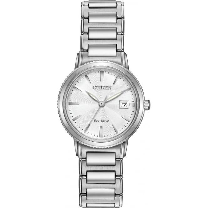 Ladies Steel Citizen Eco-Drive Watch on Bracelet EW2370-57A