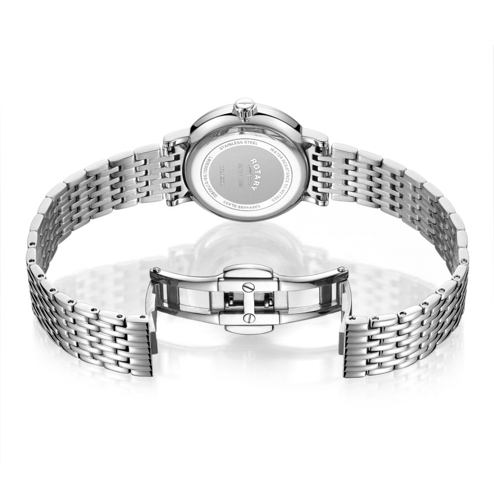 9b46f3035b72 Ladies Steel Quartz Battery Watch on Bracelet GB05300 39