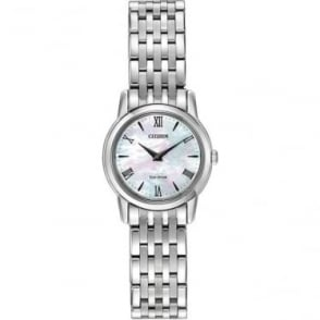 Ladies Steel Slim Eco-Drive Bracelet Dress Watch EG3040-50D