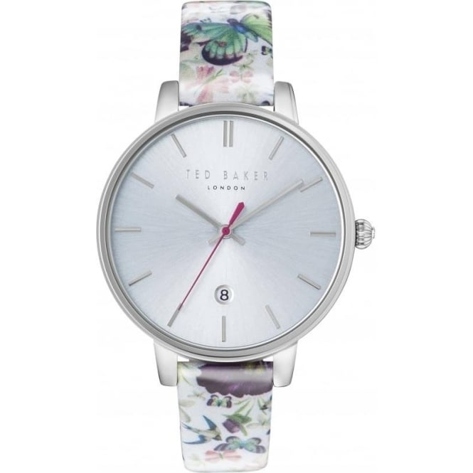 Ted Baker Watches Ladies Steel Ted Baker Watch on Leather Strap & Date TE10031540