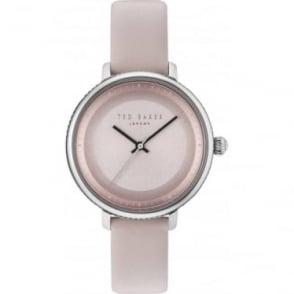 Ladies Steel Ted Baker Watch on Pink Strap TE10031533