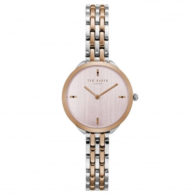 Ladies Two Tone Battery Watch on Bracelet TE15198006