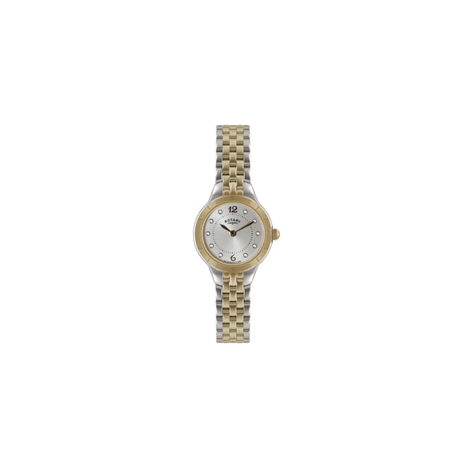 Ladies Two Tone Quartz Battery Watch on Bracelet LB02762/59