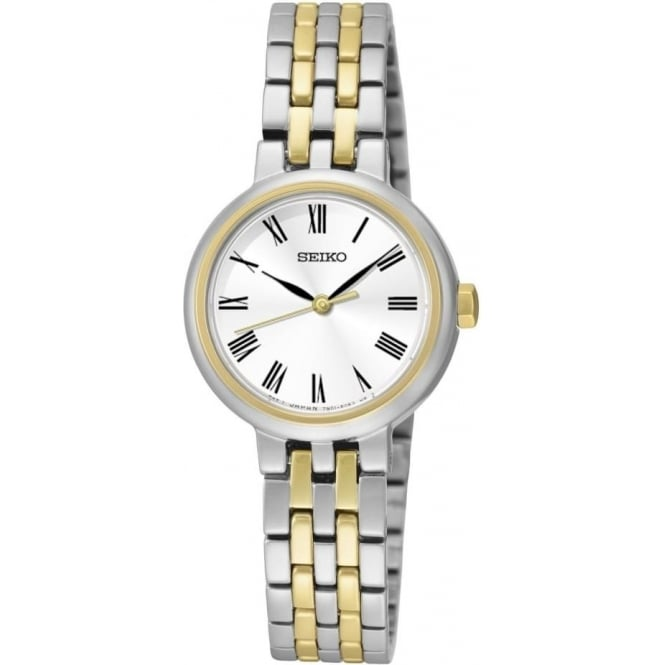Seiko Watches Ladies Two Tone Seiko Quartz Watch on Bracelet SRZ462P1