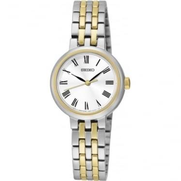 Ladies Two Tone Seiko Quartz Watch on Bracelet SRZ462P1
