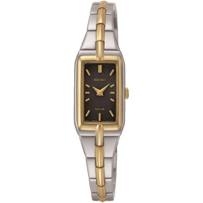 Ladies Two Tone Seiko Solar Bracelet Watch SUP274P9