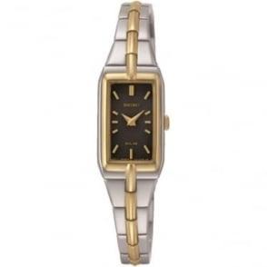 Ladies Two Tone Seiko Solar Bracelet Watch SUP274P9