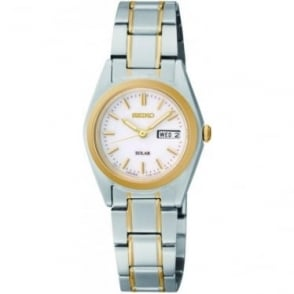 Ladies Two Tone Seiko Solar Bracelet Watch SUT108P1