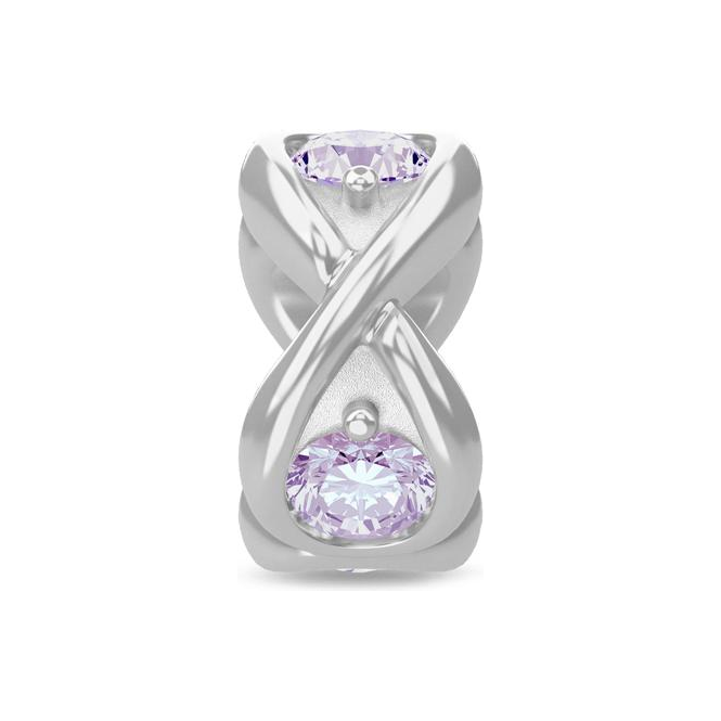 Endless Jewelry Lavender Infinity Ocean Silver