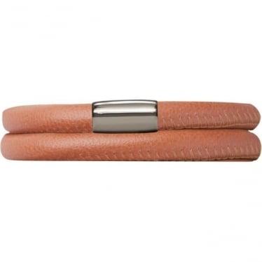 Leather Bracelet 38cm Coral
