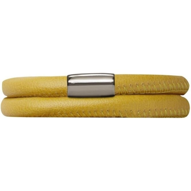 Endless Jewelry Leather Bracelet 38cm Yellow