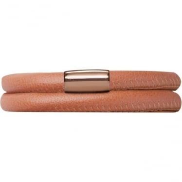 Leather Bracelet 40cm Coral