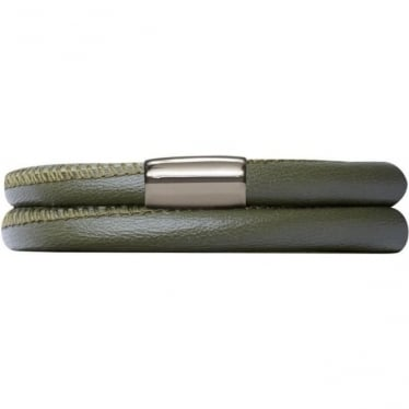 Leather Bracelet 40cm Green