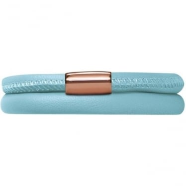 Leather Bracelet 40cm Light Blue