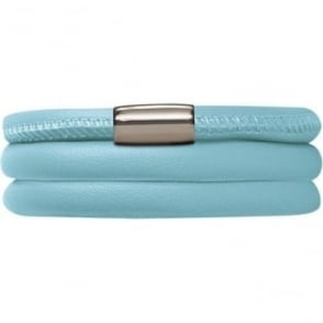 Leather Bracelet 60cm Light Blue