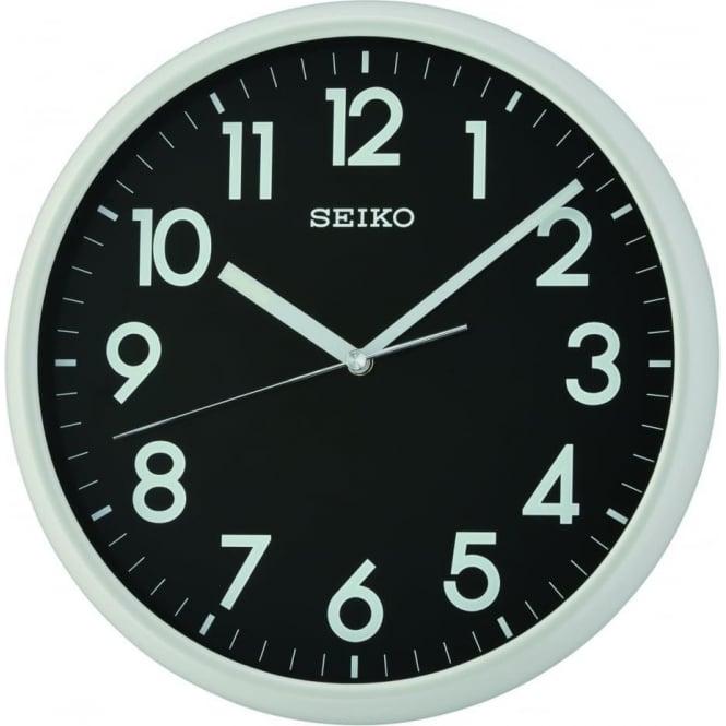 Seiko Clocks Light Grey Round Clear Kitchen Battery Wall Clock QXA694N