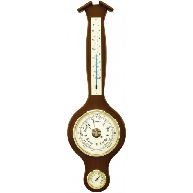Wooden Banjo Barometer With Temperature Amp Humidity By