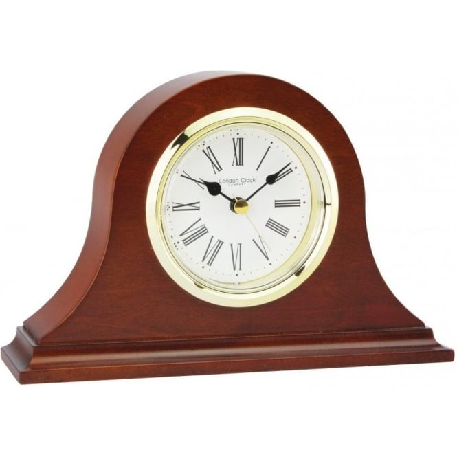 wooden napoleon battery mantle clock 06318