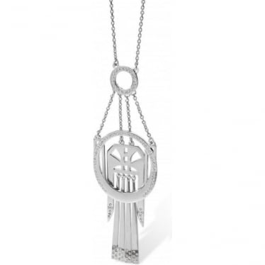 Sterling Silver Art Deco Necklace ADN1