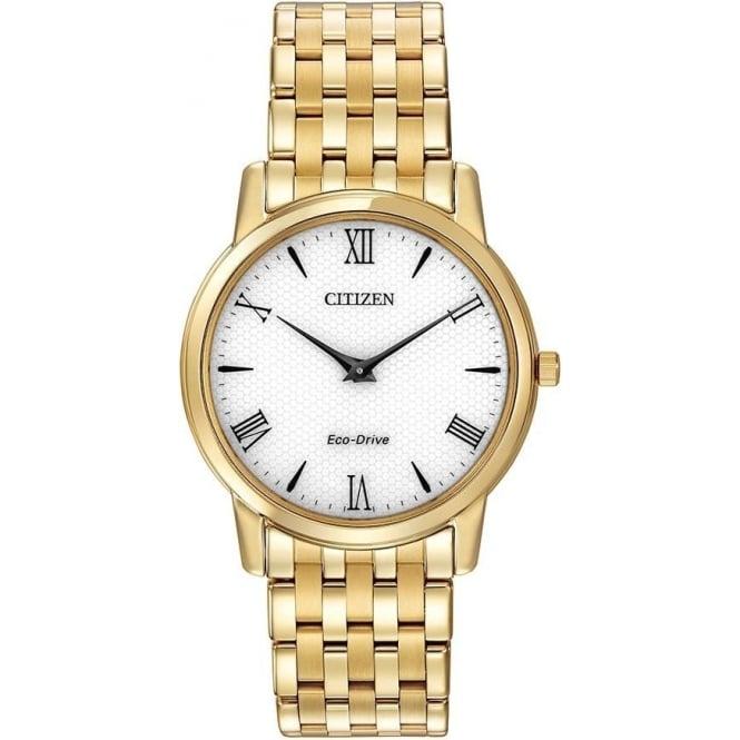 Citizen Watch Mans Gold Tone Citizen Eco-Drive Bracelet Watch AR1122-54A